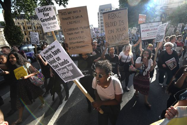 Protesters march on Downing