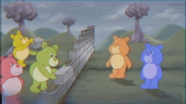 Satire of the Care Bears taking on Trump's immigration