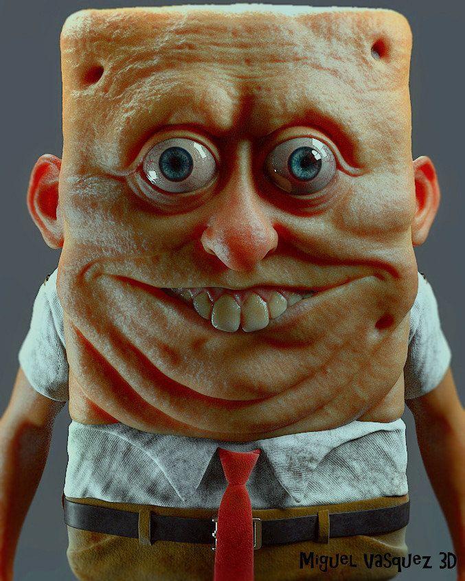 Spongebob realistic face