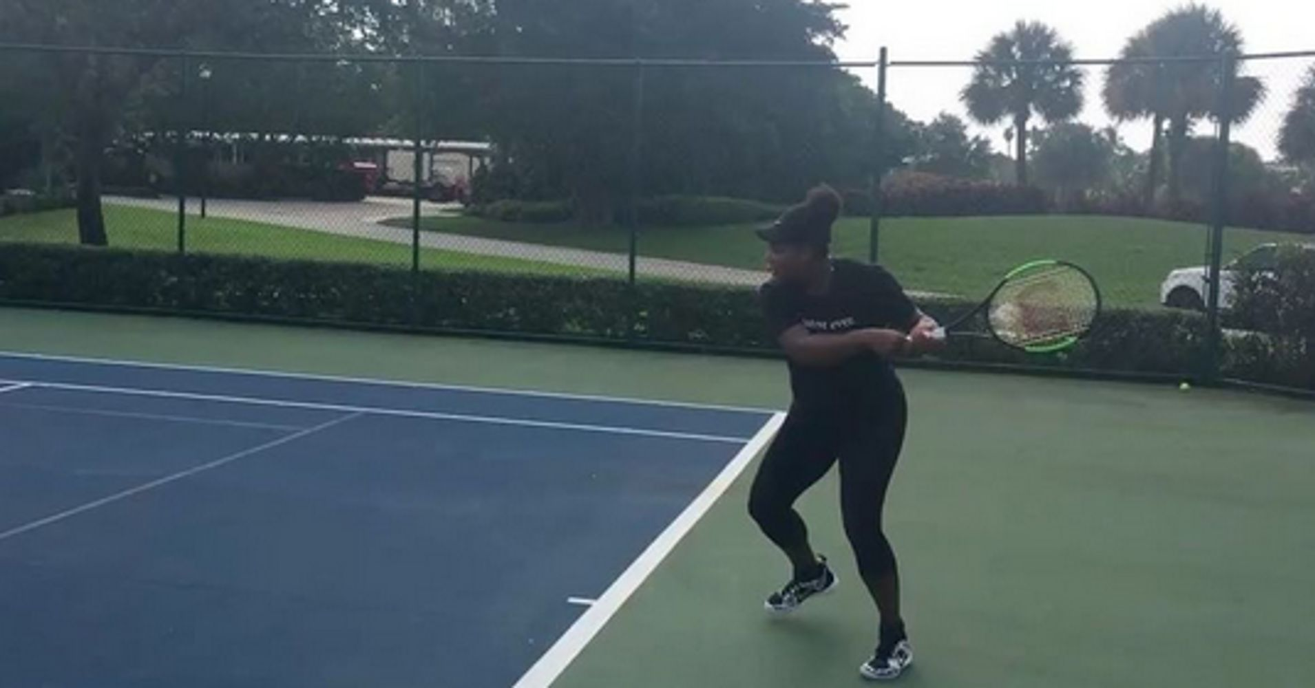 Watch Serena Williams Play Tennis While Very Pregnant Like The Badass She  Is  Huffpost