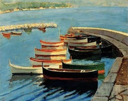 <strong><em>PM Winston Churchill's art - A Study of Boats</em></strong>