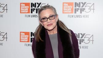 NEW YORK, NY - OCTOBER 10:  Actress Carrie Fisher attends the 54th New York Film Festival 'Bright Lights' screening at Alice Tully Hall on October 10, 2016 in New York City.  (Photo by CJ Rivera/FilmMagic)