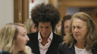NORRISTOWN, PA - JUNE 16: Accuser Andrea Constand reacts after leaving the courtroom following the fifth day of deliberations in Bill Cosby's sexual assault trial at the Montgomery County Courthouse on June 16, 2017 in Norristown, Pennsylvania.   The jury is attempting to break its deadlock and reach a unanimous decision on any of the three counts of aggravated indecent assault the comedian faces. (Photo by Lucas Jackson-Pool/Getty Images)