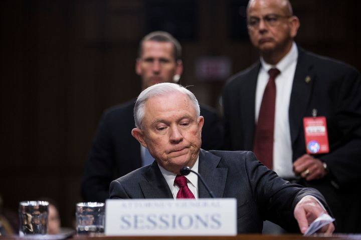 Attorney General Jeff Sessions during his appearance last week before the Senate Intelligence Committee.