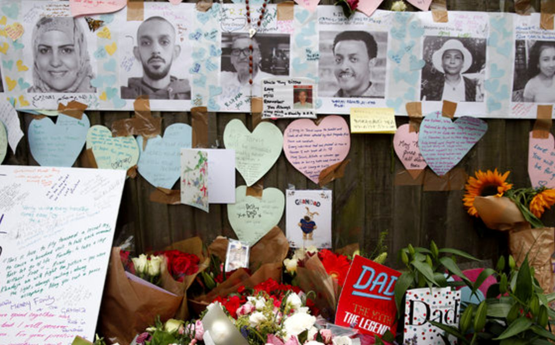Heartbreaking Father's Day Tributes Left For Those Caught Up In Grenfell Tower