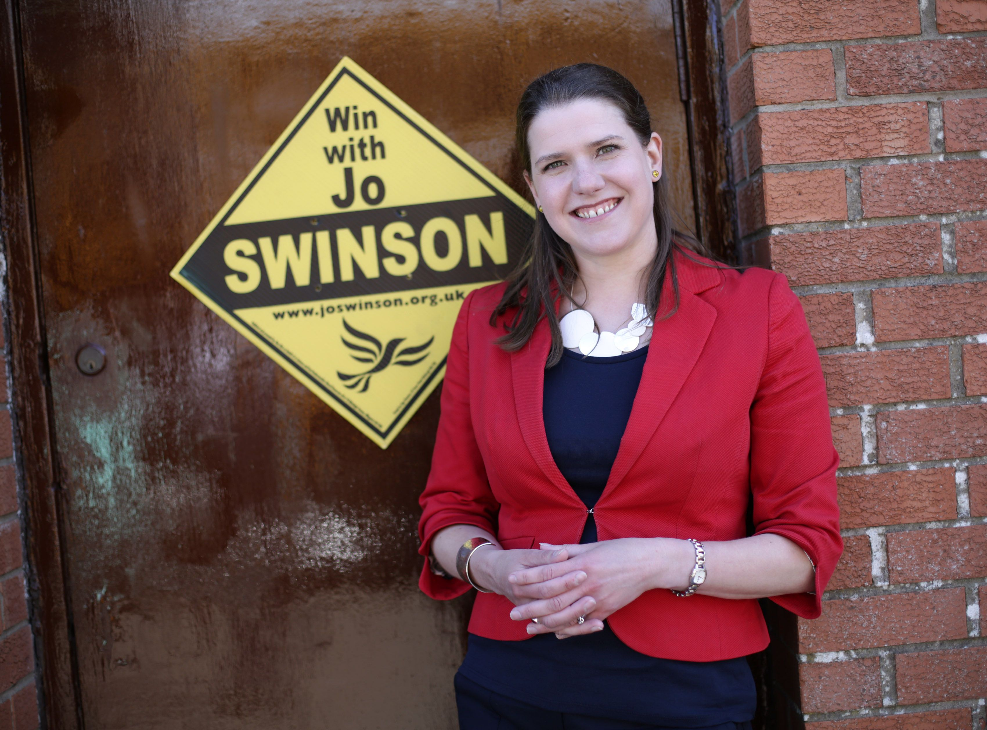 Jo Swinson at the Lib Dem's East Dunbartonshire campaign HQ during the election