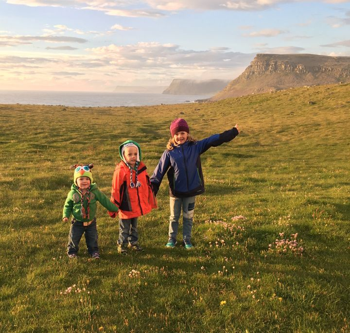 <p>Our kids at the puffin cliffs at Latrabjarg in Iceland.  </p>