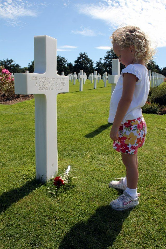 <p>Our daughter at Normandy American Cemetery and Memorial.   </p>