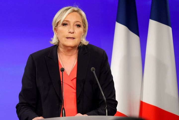 Marine Le Pen concedes defeat after the second round of 2017 French presidential election.