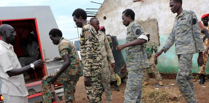 These South Sudanese soldiers are among those accused of rape, torture, killing and looting during an attack on aid workers.