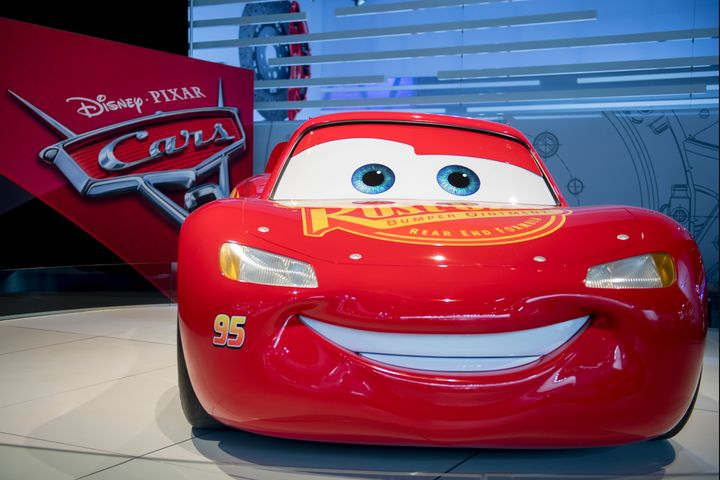 A model of Lightning McQueen from the Disney Pixar movie 'Cars 3.' The film topped the box office on its opening weekend.