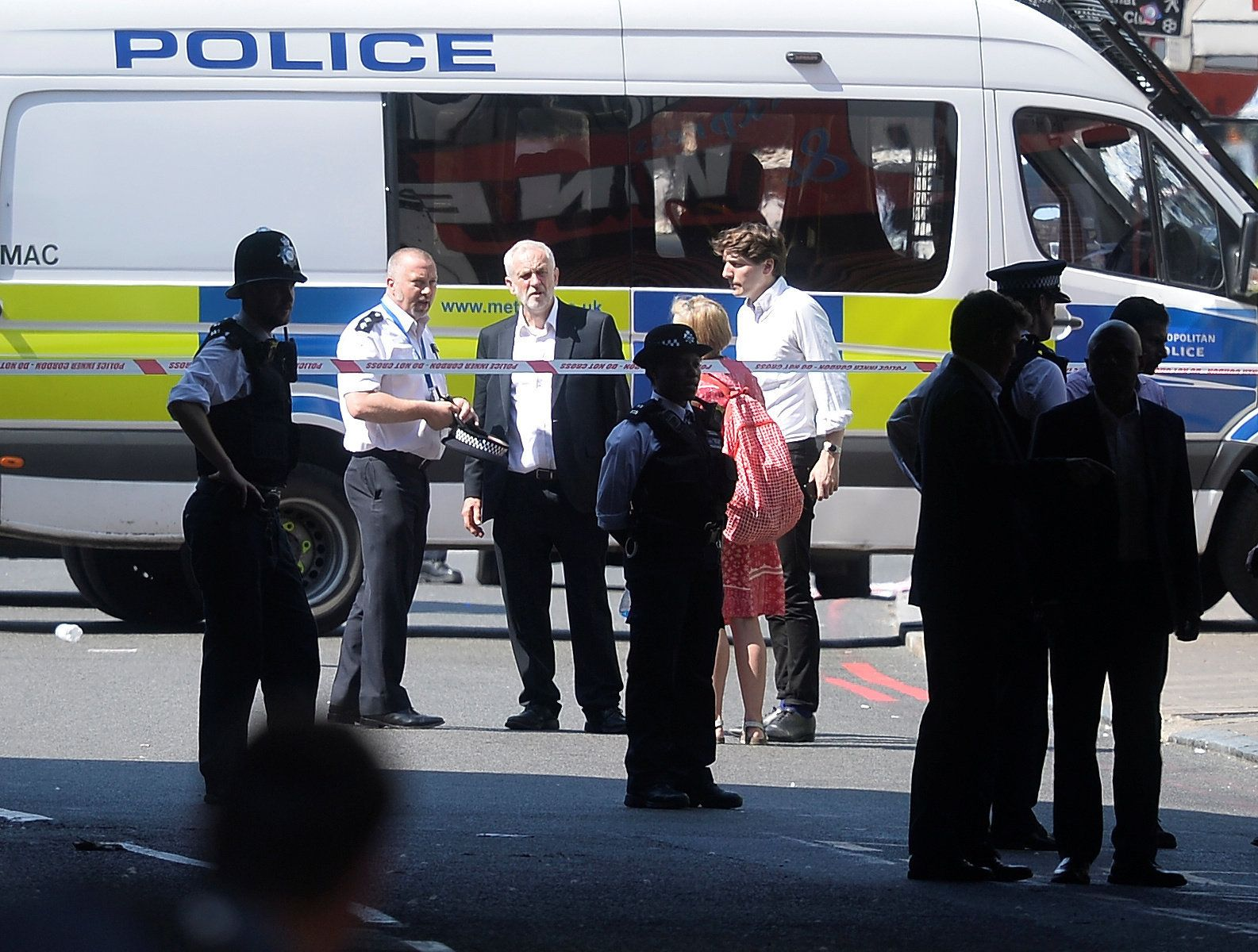 Jeremy Corbyn Visibly Distraught As He Visits Scene Of Terror Near Finsbury Park