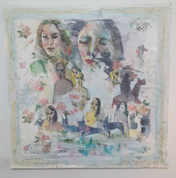 Shahram Karimi, Untitled, 2016, mixed media on canvas