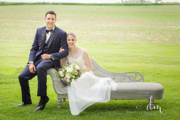 """""""Jenny and Kyle escaped the rain in Belmont, Ontario and shared their love with family and friends as they got married on the"""