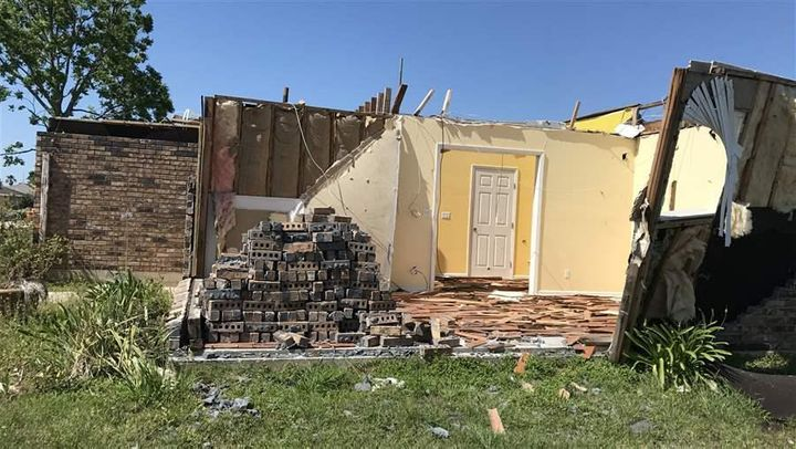A house in east New Orleans is still awaiting repairs months after a tornado.
