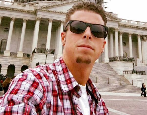 T.J. Bray on a visit to Washington, D.C. last year. Bray has worked at the Carrier plant in Indianapolis for 15 years.