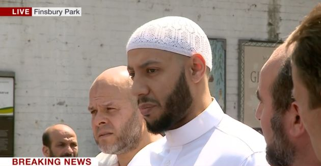 Imam Mohammed Mahmoud helped protect the attacker from crowds of people wanting to hurt him Monday...