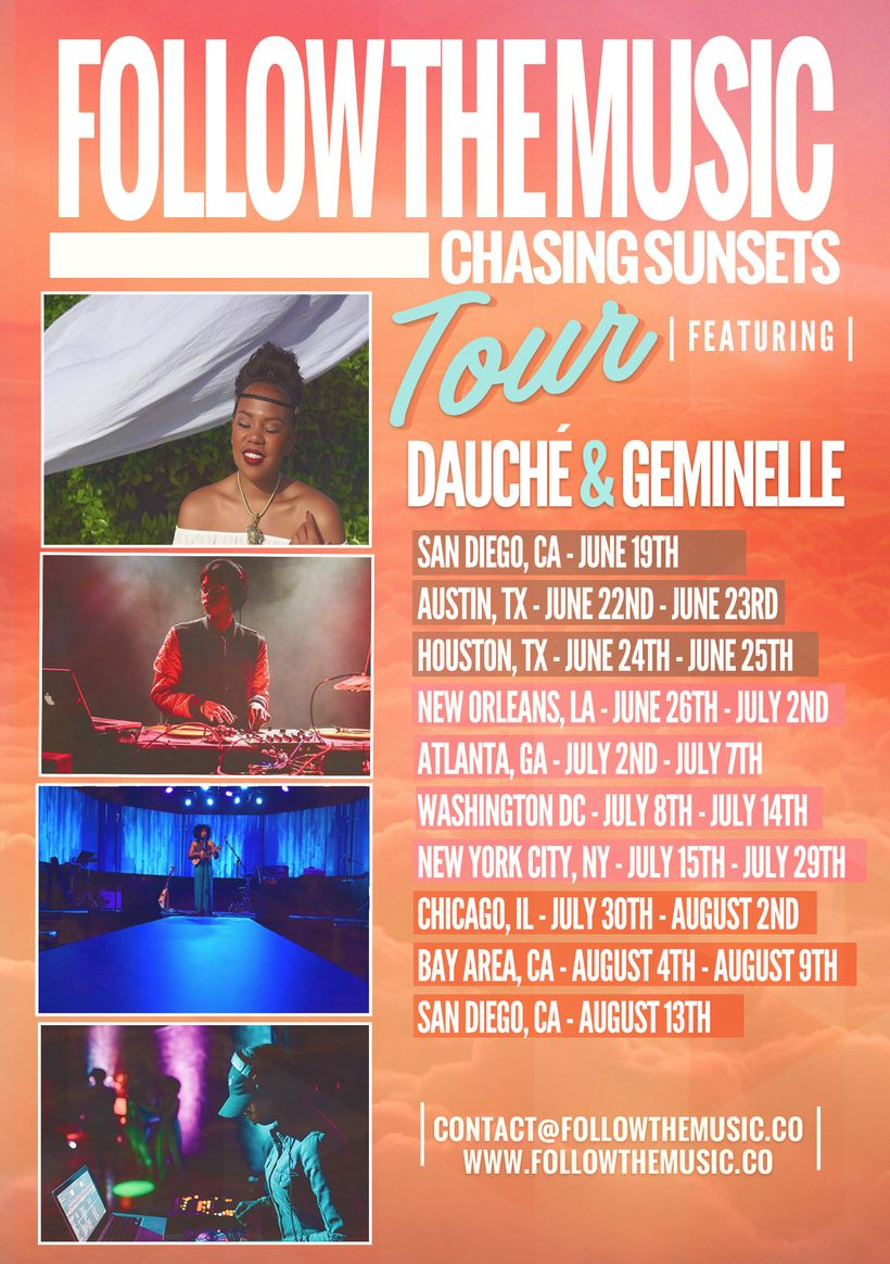 Chasing Sunsets Tour Graphic
