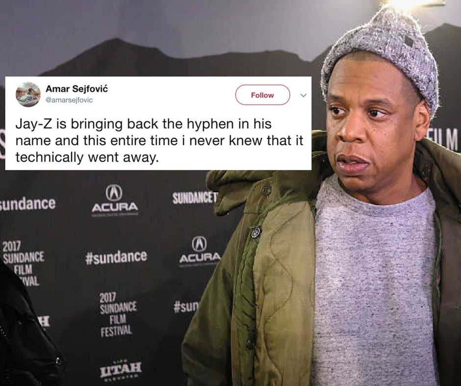 JAY-Z Puts Hyphen Back In His Name, Twitter Didn't Realize It Was