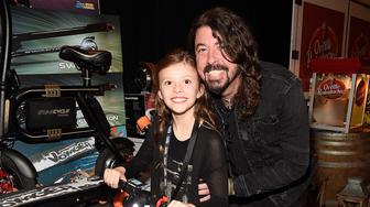 LOS ANGELES, CA - FEBRUARY 10:  Dave Grohl and Harper Grohl attend MusiCares Person of the Year honoring Tom Petty at the Los Angeles Convention Center on February 10, 2017 in Los Angeles, California.  (Photo by Kevin Mazur/WireImage)