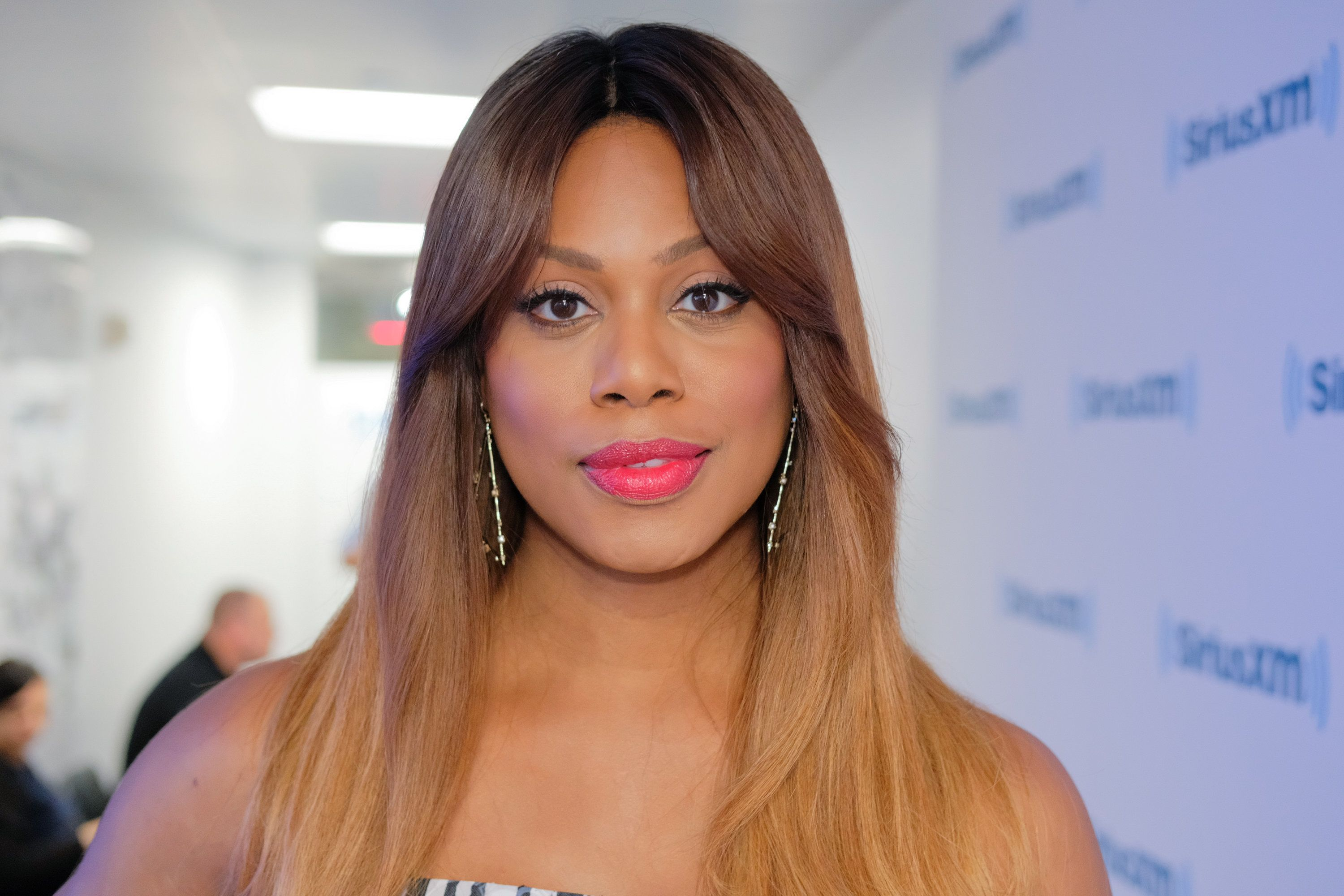 NEW YORK, NY - JUNE 14:  Actress Laverne Cox visits SiriusXM Studios on June 14, 2017 in New York City.  (Photo by Matthew Eisman/Getty Images)