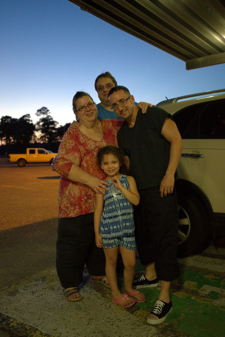 Ladd is reunited with his family after being released from prison.