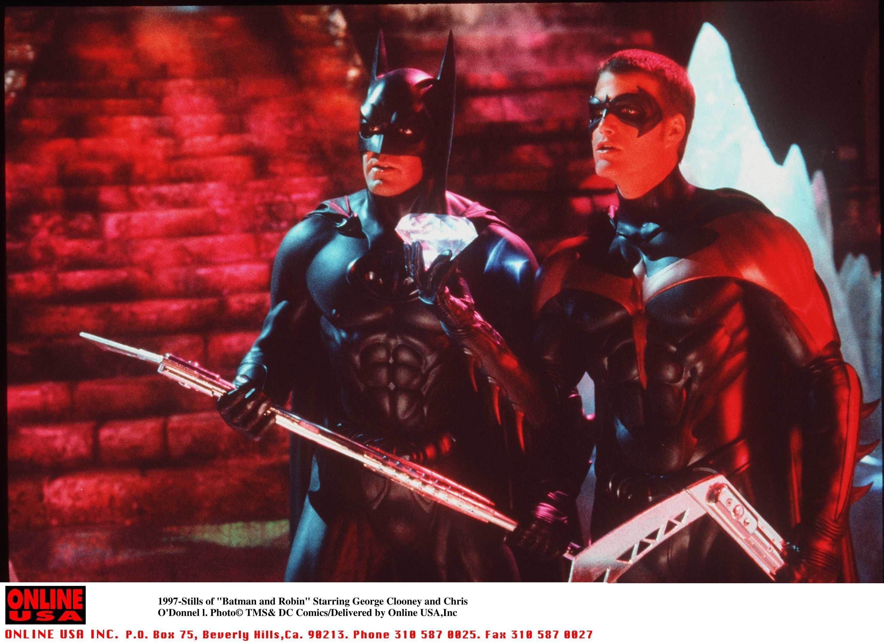 5/27- 'Batman And Robin ' Movie Stills Starring George Clooney And Chris O'Donnell (Photo By Getty Images)