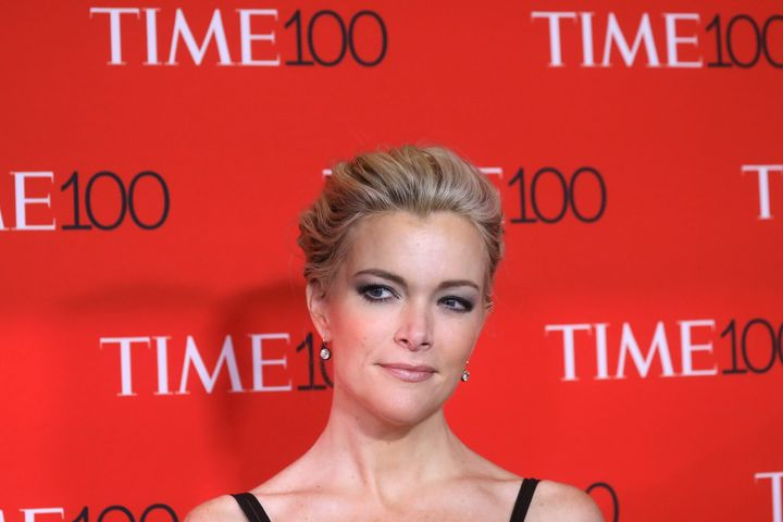 TV host Megyn Kelly arrives for the Time 100 Gala in Manhattan.