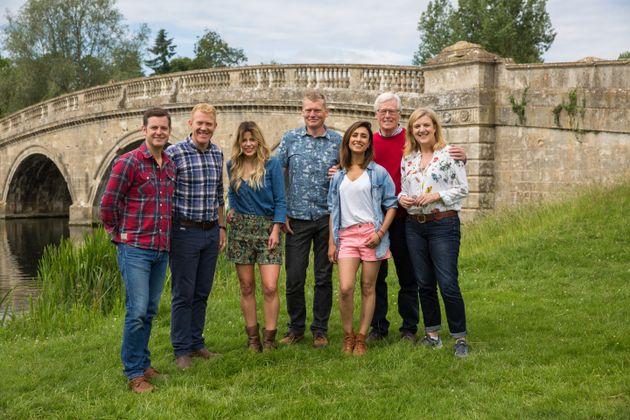 The 'Countryfile' team at Blenheim