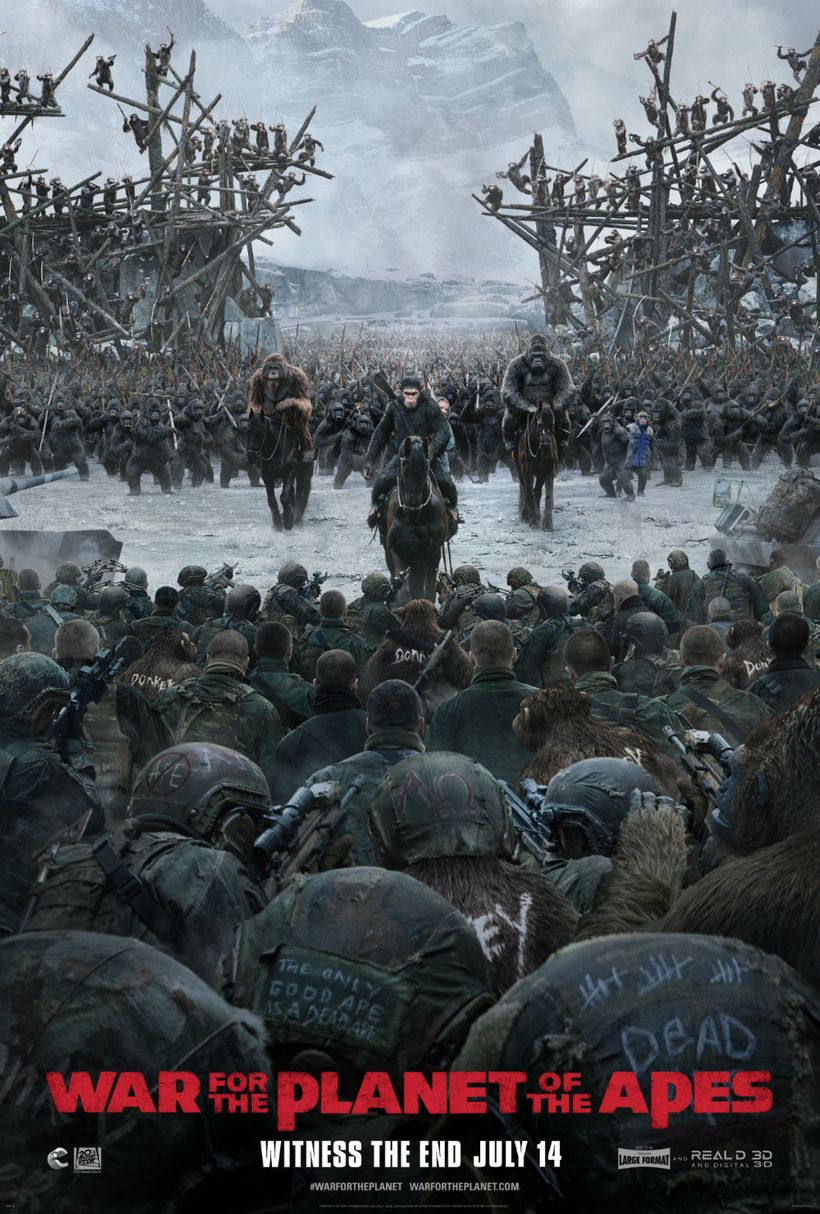 <em>War for the Planet of the Apes</em> movie poster.