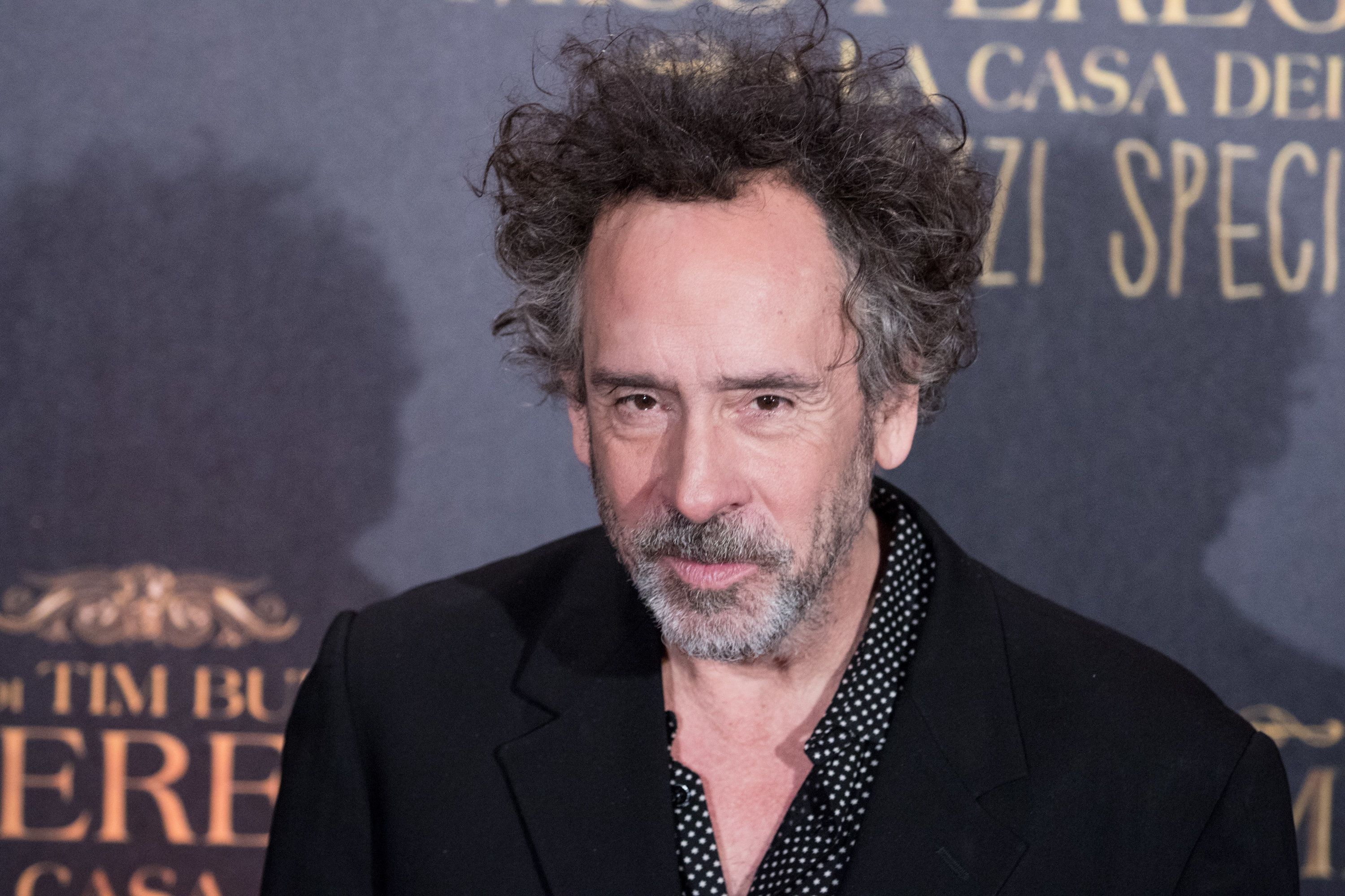 The director Tim Burton attends the italian premiere of Miss Peregrine movie at the Auditorium conciliazione in Rome, on December 5, 2016. (Photo by Luca Carlino/NurPhoto via Getty Images)