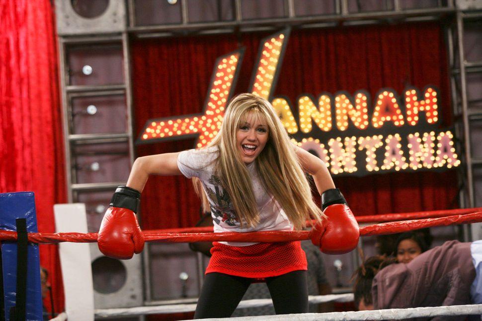 Cyrus as Hannah Montana.
