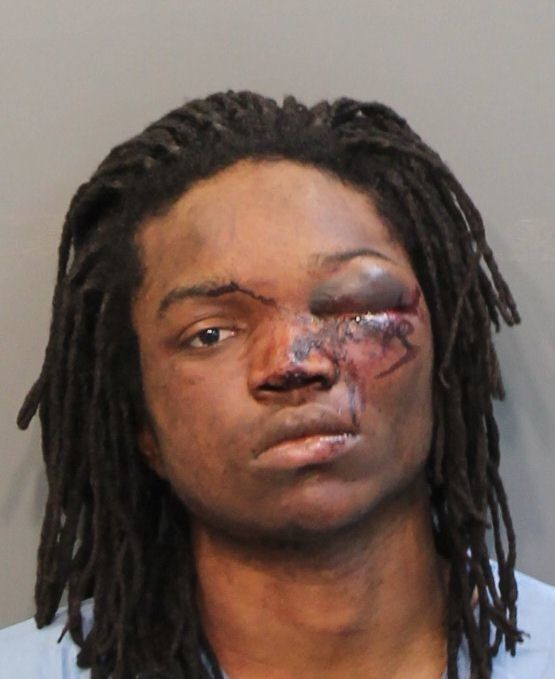 Calvin Carter III, 22, was arrested after allegedly breaking into a Tennessee home and shooting a man inside.