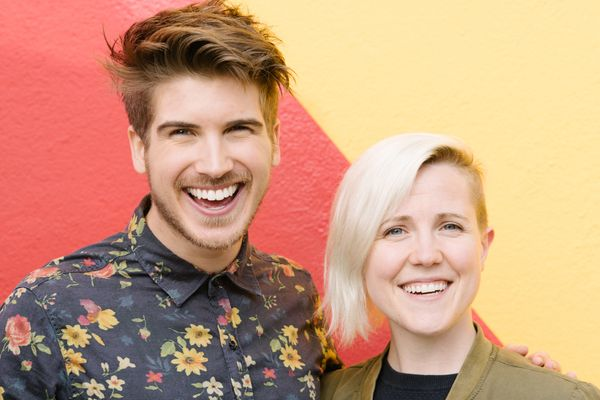 Joey Graceffa and Hannah Hart