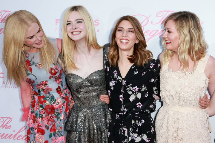 Actors Nicole Kidman, Elle Fanning, director Sofia Coppola and actor Kirsten Dunst attend the premiere of Focus Features' 'Th