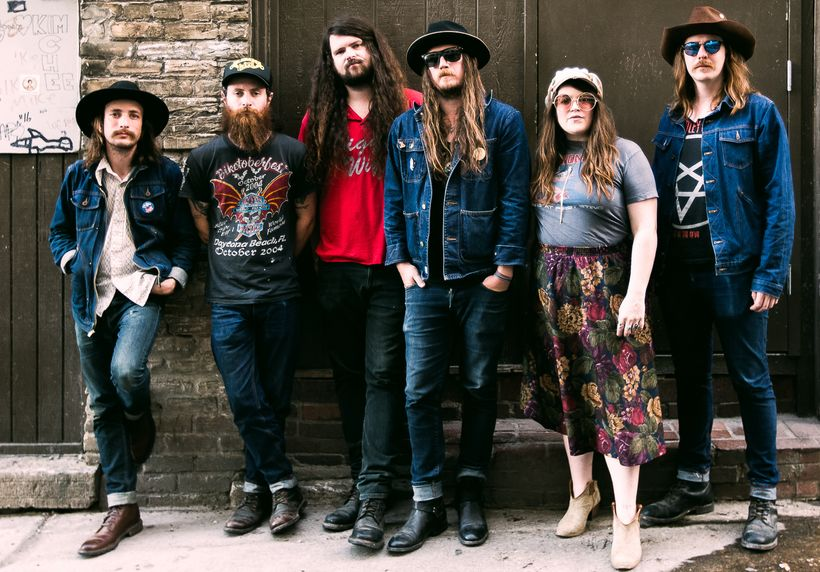 Banditos (from left): Steve Pierce (banjo/vocals), Randy Wade (drums), Danny Vines (bass), Corey Parsons (guitar/vocals), Mar