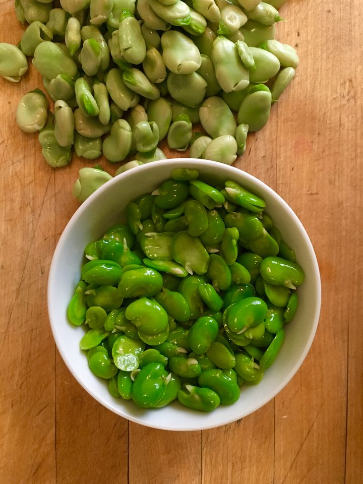 Blanching and peeling the shelled favas is necessary, at least for this dish. It's relaxing