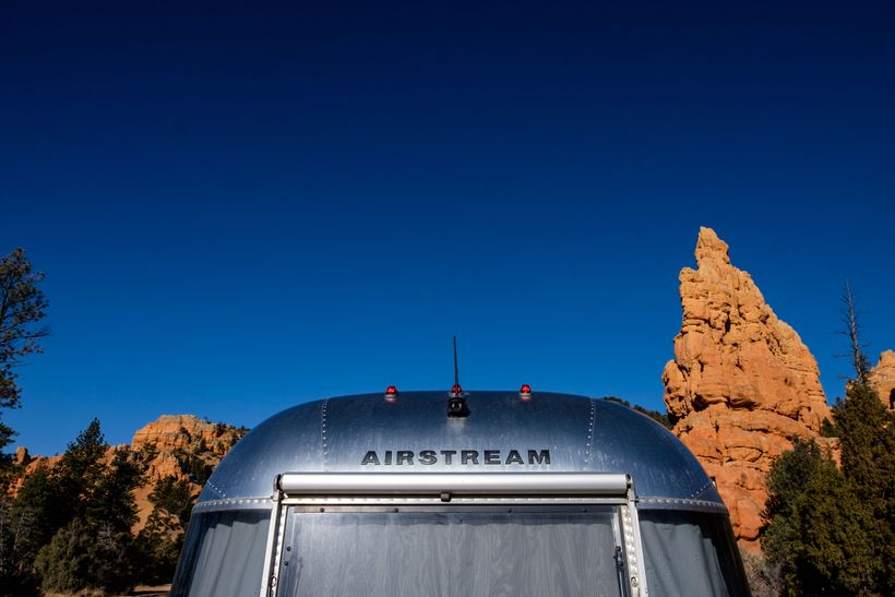 """<em>Driving into the park with Wally the </em><a rel=""""nofollow"""" href=""""https://www.huffpost.com/topic/airstream"""" target=""""_blan"""