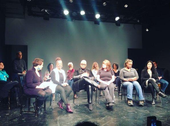 "La Paloma Prisoner post show Talk back panel, ""Unlocking Female Incarceration - Part II""  Tiffany Vega (moderator), Sharon Ri"