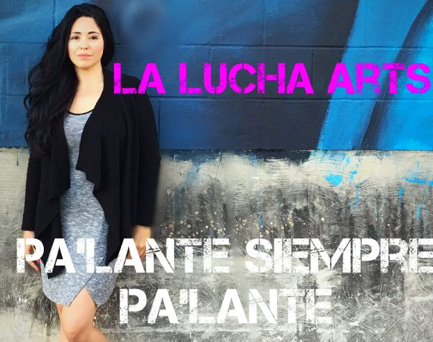 Promo image for La Lucha Arts with logo