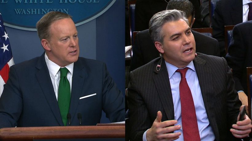 Sean Spicer is interviewing his own replacement