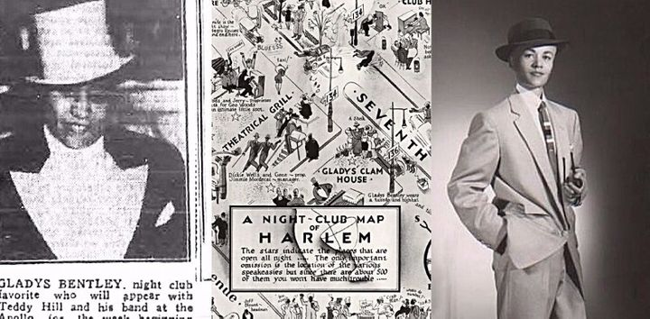 Gladys Bentley, Gladys Clam House featured on Map of Harlem, Storme DeLarverie
