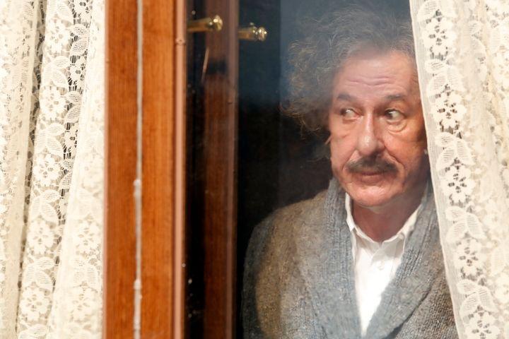 <p>Geoffrey Rush as Professor Einstein</p>