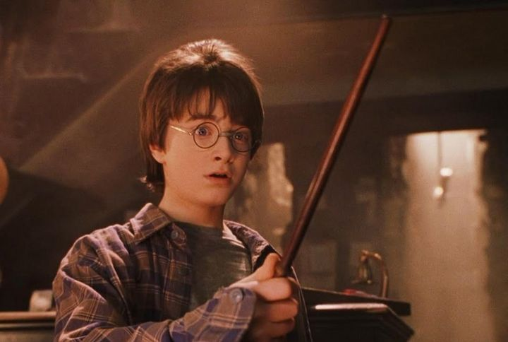 Daniel Radcliffe as Harry Potter in the film.