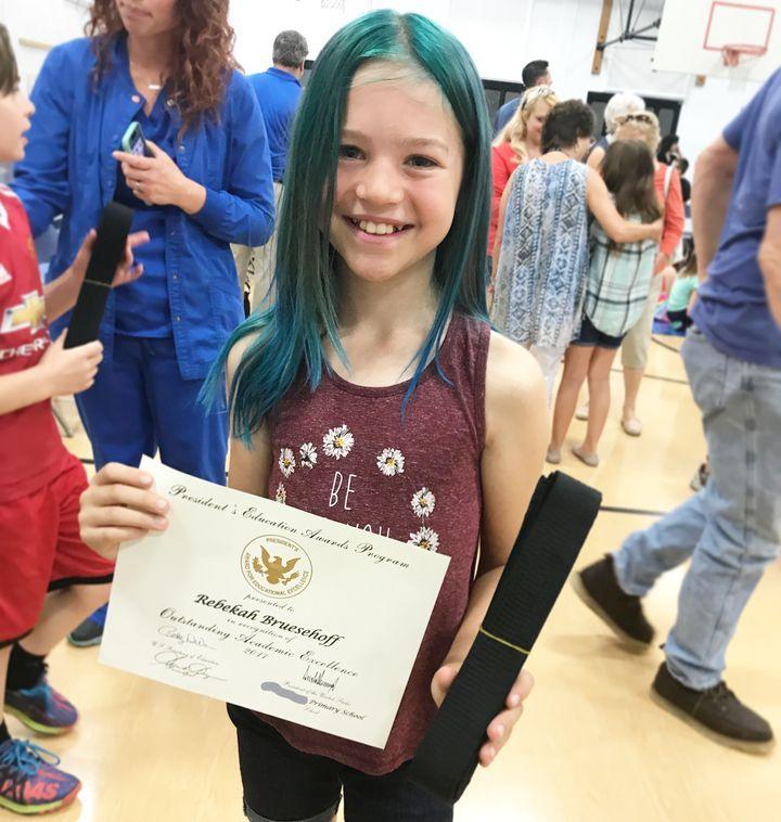Rebekah at her school awards ceremony