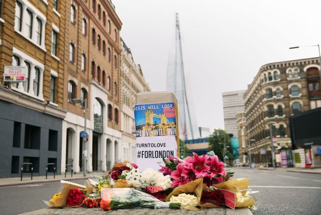 Floral tributes laid near Borough