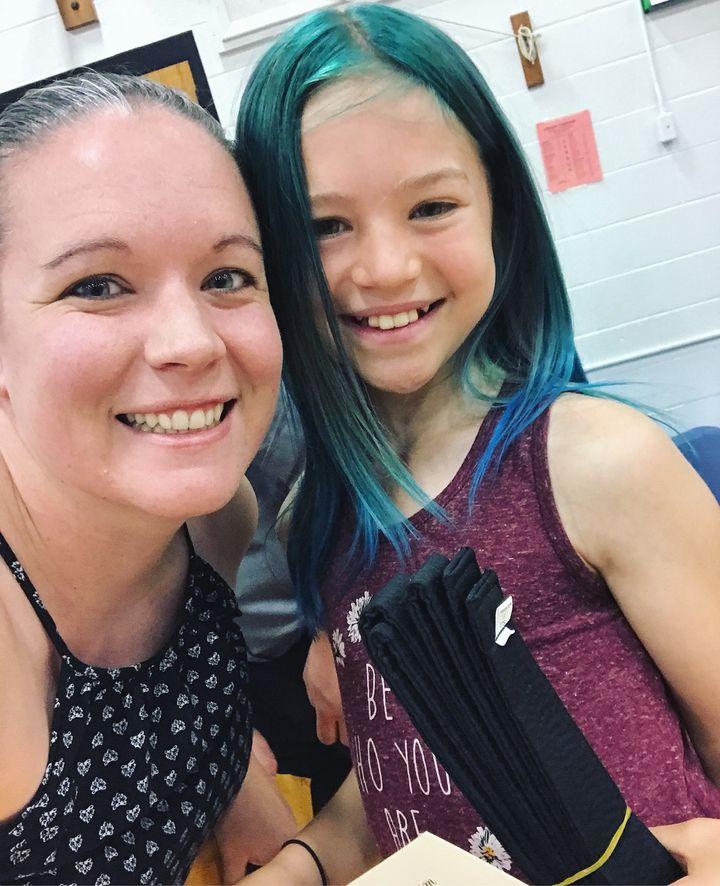 Proud Mama Bear with her award-winning transgender daughter