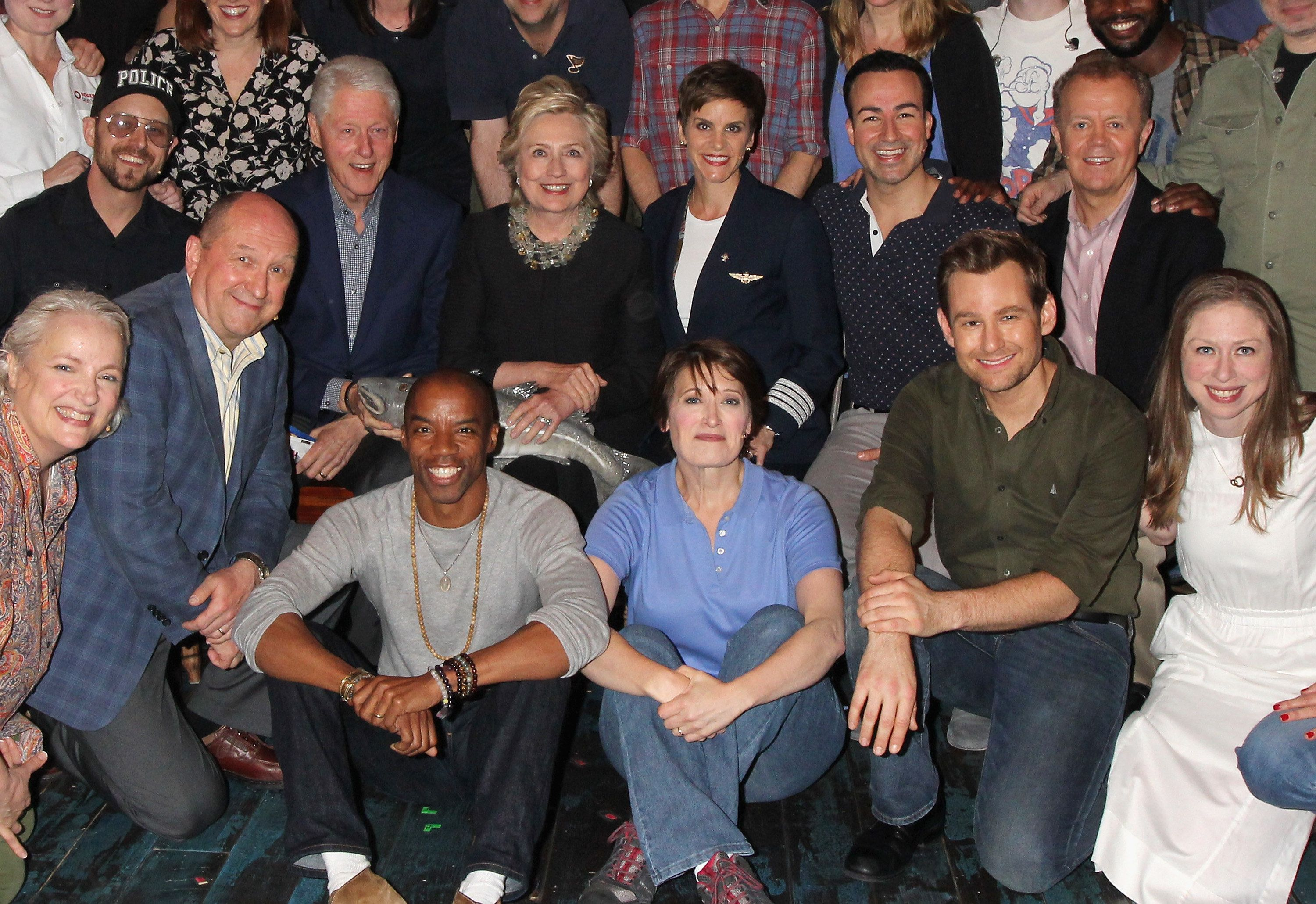 Bill and Hillz with the cast.