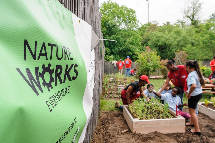 The Conservancy's Nature Works Everywhere initiative supports a wide range of educational programs, including school gardens.