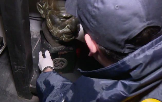 A bust is recovered from the collector's